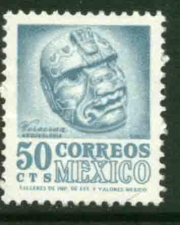MEXICO 881, 50c 1950 Def 8th Issue Fosforescent glazed MNH