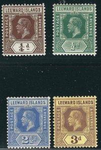 Leeward Is 4 Different Die I MH VF 1912 SCV $14.90