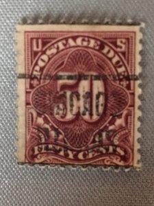 1917 J67 50 cent postage due