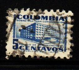 Columbia - #601 Ministry of Posts & Telegraphs  - Used