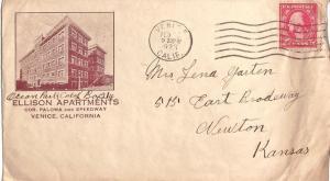 United States California 1928 Venice 1923 machine  Brown Illustrated Advertis...