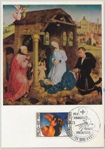63460 -  BELGIUM - POSTAL HISTORY: MAXIMUM CARD 1975 -  ART Christmas