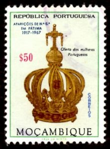 Mozambique 1967 Virgin's Crown, Virgin Mary, Fatima 50c Scott.480 Used (#9)