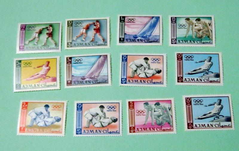 Ajman - 27-36, MNH Set. Olympics. SCV - $7.10