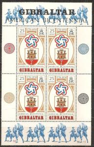 Gibraltar #329a Mint Never Hinged F-VF CV $4.50 (SU3796L)