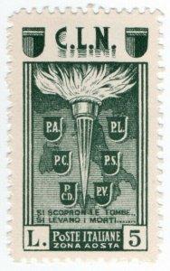 (I.B) Italy Postal : Aosta Local Post 5L