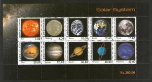 Sri Lanka 2014 Solar System Space Moon Sun Earth Planet Universe M/s MNH # 6134