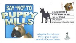 Animal Rescue, Adopt A Shelter Pet First Day Cover #3