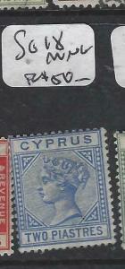 CYPRUS  (P0406B)  QV  SG 18   MNG