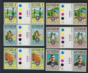 1978 Boy Scout St Christopher Nevis-Anguilla gutter pair