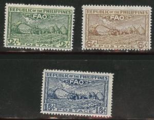 Philippines Scott 522-524 MH* FAO set tropical gum