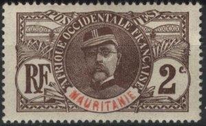 Mauritania 2 (mh, dg) 1c Louis Faidherbe, brown (1906)