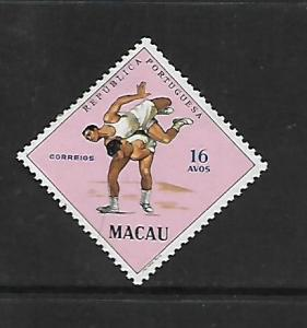 MACAU, 395, MINT HINGED, SPORTS ISSUE