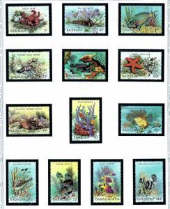 Barbuda 877-89 MNH 1987 Marine Life