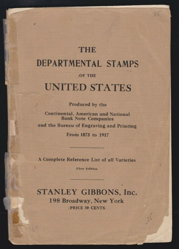 US Vintage 1873-1917 Department Stamps of the United States Book