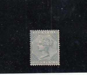 BERMUDA # 23 FVF-MNGH 3p 1886 QUEEN VICTORIA / GRAY CAT VALUE $28