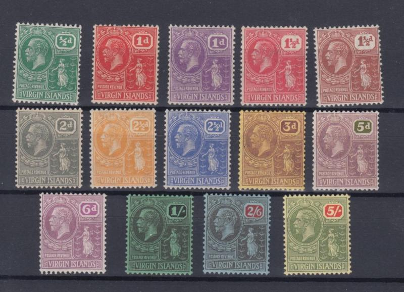 BRITISH VIRGIN ISLANDS 53 - 66  MINT HINGED OG *  NO FAULTS EXTRA FINE !