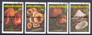 Barbuda Sc# 828-831 Used 1992 Orchids Transport & Tourism