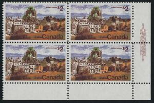 Canada 601 BR Block Plate 1 MNH Quebec City, Architecture