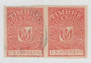 Dominican Republic revenue fiscal stamp 7-25-21 -used