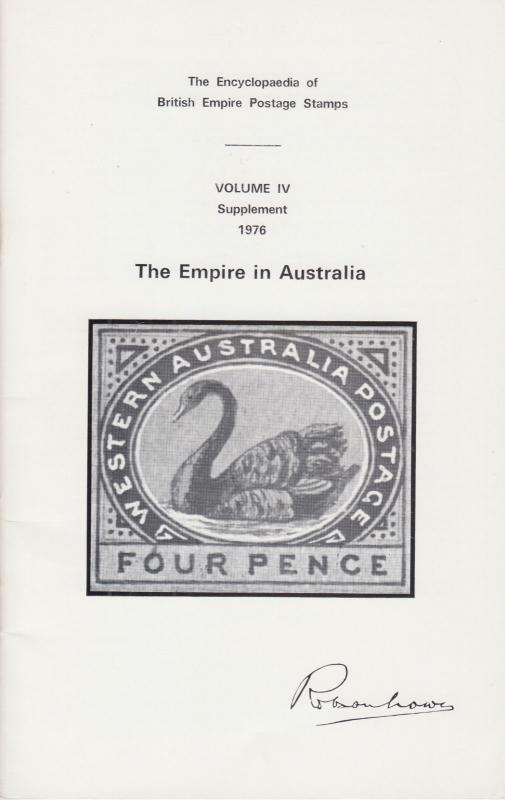 The Encyclopaedia of British Empire Postage Stamps, Australia, 1976 Supplement