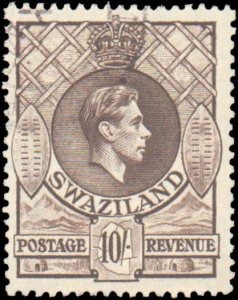 Swaziland #37, Incomplete Set, High Value, 1938, Used