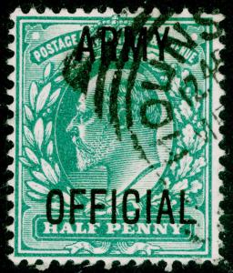 SGO48, ½d blue-green, FINE USED, CDS.