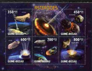 Guinea-Bissau MNH S/S Asteroids 2010 6 Stamps