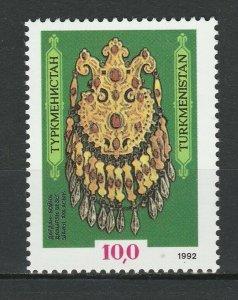 Turkmenistan 1992 Jewelry Museum Treasures MNH stamp