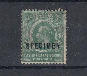 East Africa & Uganda KEVII 3c Specimen SG66s MNG JK3853