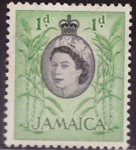 Jamaica Scott 160 MH* QE2 stamp