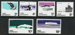 New Zealand-Ross Dependency Sc#L9-L14 1972 Year Set MNH
