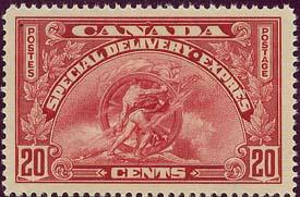 Canada - 1935 20c Special Delivery VF-NH #E6 Super Example!
