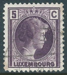 Luxembourg, Sc #159, 5c Used