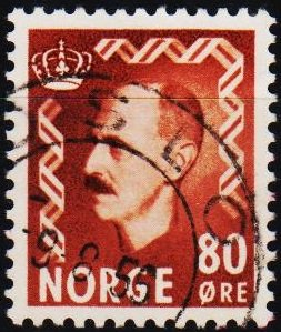 Norway. 1950 80ore S.G.429  Fine Used
