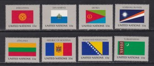 United Nations - New York # 744-751, Flags, NH, 1/2 Cat.