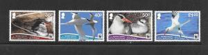 BIRDS - ASCENSION ISLAND #1034-37 WHITE FRAMES MNH