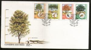 Bophuthatswana 1985 Tree Conservation Bird Honey Bee Flora Sc 169-2 FDC # 16431