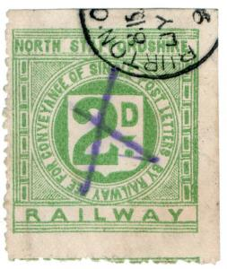 (I.B) North Staffordshire Railway : Letter Stamp 2d (Burton-on-Trent)