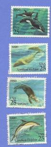 US Scott #2508-2511 25c Sea Creatures, Used