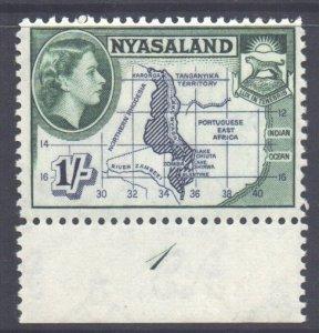 Nyasaland Scott 106 - SG182, 1953 Elizabeth II 1/- MH*