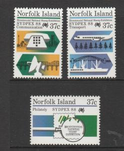 Norfolk islands 1988 sydpex UM SG 444/6