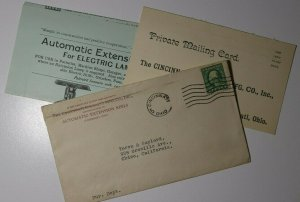 US Sc#498 Cincinnati OH Specialty Mfg Ad Electric Contents 1920 Automatic Ext