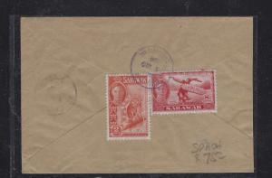 SARAWAK POSTAL HISTORY (PP1509B) 1954 KGVI 2C+8C SPAOH TO BETONG LAYAS