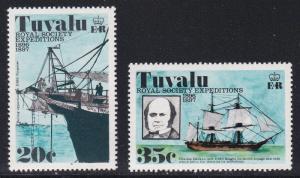 Tuvalu # 55 & 57, Royal Society of London Expeditions, NH