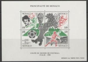 MONACO SGMS1986 1990 FOOTBALL WORLD CUP MNH