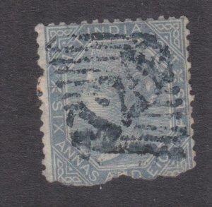 ADEN, 124 on India 1868 6a.8p. Slate.