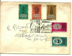 Cub1966 Chess FDC´s signed by Robert Fisher, Great Master Original Sign MNH