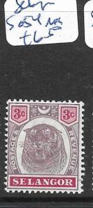 MALAYA   SELANGOR  (P1207B)  TIGER 3C   SG 54   MOG