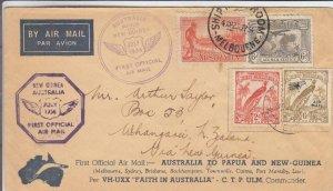 1934, 1st Flt., Melbourne, Australia to Papua New Guinea, See Remark (30179)